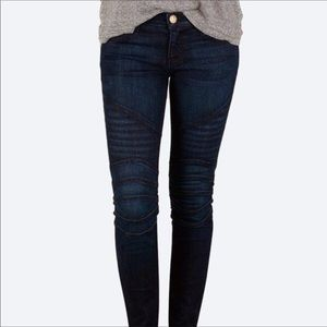 Current/Elliot Moto Ankle Skinny Denim Jeans